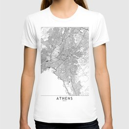 Athens White Map T-shirt