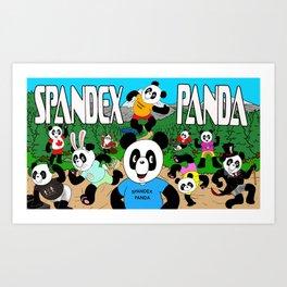 Spandex Panda - The Original Art Print