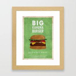 PULP FICTION - big kahuna burger Framed Art Print