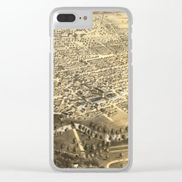 Vintage Pictorial Map of Fort Wayne Indiana (1868) Clear iPhone Case