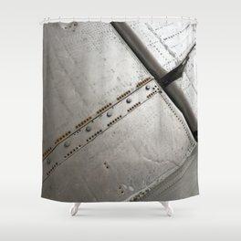 Plane Code. Fashion textures Shower Curtain