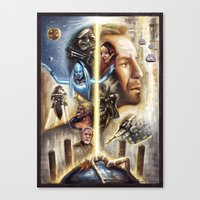 fifth element Canvas Prints featuring The Fifth Element by muratturan