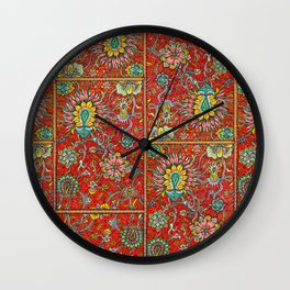 Bursts of India Jacobean - Victorio Road Series Wall Clock