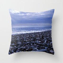 BLUE BEACH of SICILY Throw Pillow