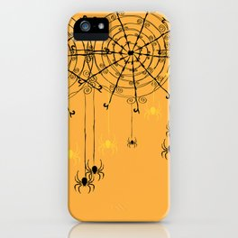 Halloween Spider Web iPhone Case