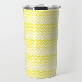 Yellow Ombre Chevron Travel Mug