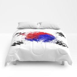 Flag brush Comforters