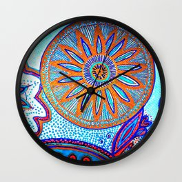 Energy of Orbs Wall Clock