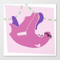 sloths Canvas Prints featuring Sloths by Fandango089