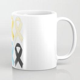 SIx Awareness Ribbons Coffee Mug