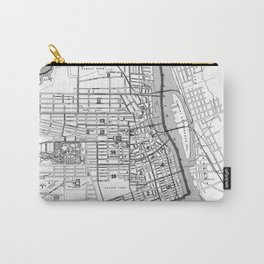 Vintage Map of Albany NY (1895) BW Carry-All Pouch