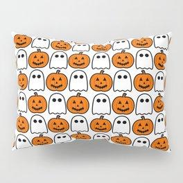 Spooky Halloween Ghosts And Pumpkins Pillow Sham