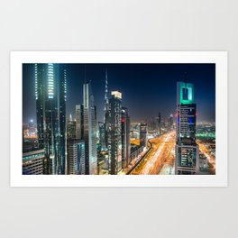 dubai road Art Print