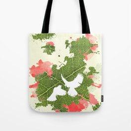 Leaf Bird Tote Bag