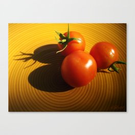 Abstract Tomato Canvas Print