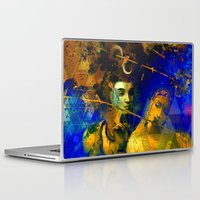 hindu Laptop & iPad Skins featuring Shiva The Auspicious One - The Hindu God by sarvesh