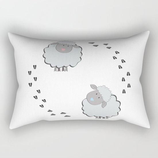 Cute Couple Rectangular Pillow