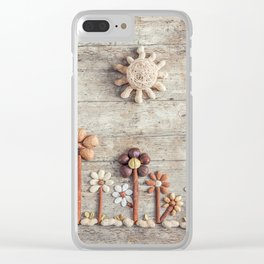 Dried fruits arranged forming flowers (3) Clear iPhone Case