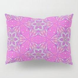 Violet stars Pattern Pillow Sham