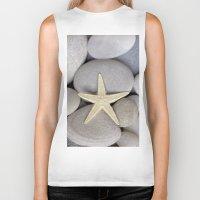 starfish Biker Tanks featuring Starfish by LebensART Photography