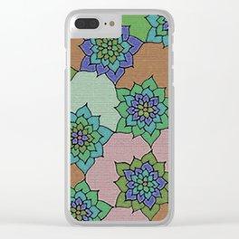 zakiaz autumn lotus Clear iPhone Case