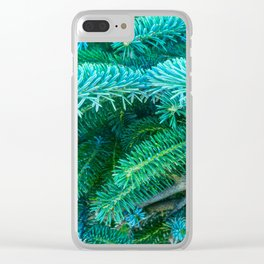 Fantastic Blue Spruce Clear iPhone Case