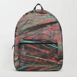Blue and Teal Abstract Painting Backpack