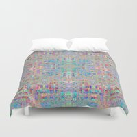 computer Duvet Covers featuring Computer alien by Brianne Burnell