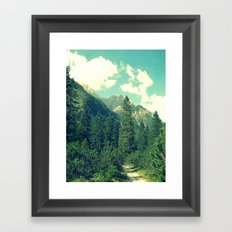 take the long way home Framed Art Print