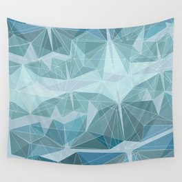 Winter geometric style - minimalist Wall Tapestry