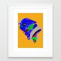 homer Framed Art Prints featuring Homer 1. by Huxley Chin