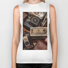 A Mess Of Old Cameras Biker Tank