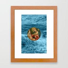 Christmas Card (Nativity Waves) Framed Art Print