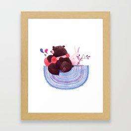 Bear & Bunny Framed Art Print