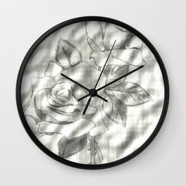 Roses Enhanced Wall Clock