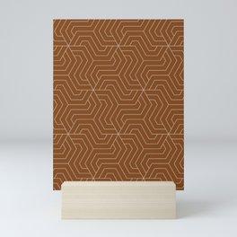 Russet - brown - Modern Vector Seamless Pattern Mini Art Print