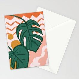 Monstera Split Leaf in Sunrise Stationery Cards