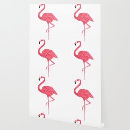 Flamingo fuchsia flap Wallpaper