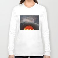 the moon Long Sleeve T-shirts featuring Moon by Baris erdem