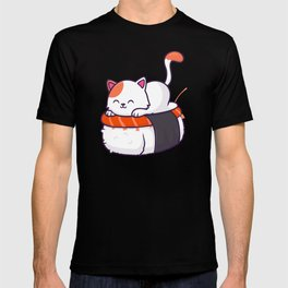 Sushi Roll Cat T-shirt