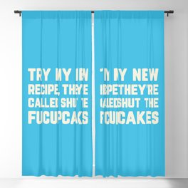 Shut The Fucupcakes Funny Quote Blackout Curtain