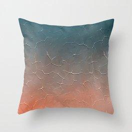 Modern  Textured  Atlantic Blue Abstract Throw Pillow