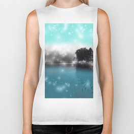 Peace and Tranquility Landscape Biker Tank