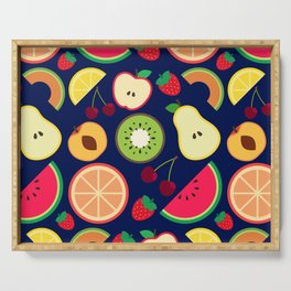 Fruit pattern vector illustration colorful Serving Tray