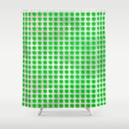 Four leaf clover pattern on texture Shower Curtain