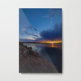 Bluewater Lake Sunset Metal Print