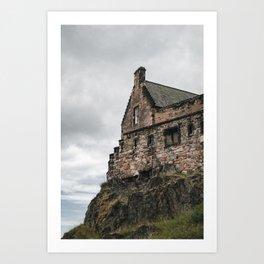 glimpse of edinburgh castle Art Print