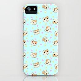 White and Orange Cat Emotes iPhone Case