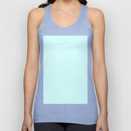 Melange - White and Celeste Cyan Unisex Tank Top