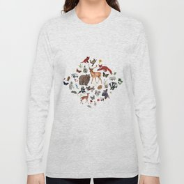 Wild Woodland Animals Long Sleeve T-shirt
